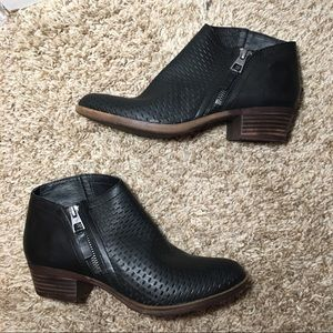 Luck Brand Brielley Perforated Ankle Boots Booties
